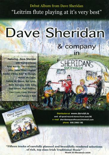 Dave Sheridan, flute, CD promotional poster