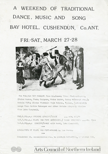 Bay Hotel, Cushendun, Co. Antrim,1971, event poster
