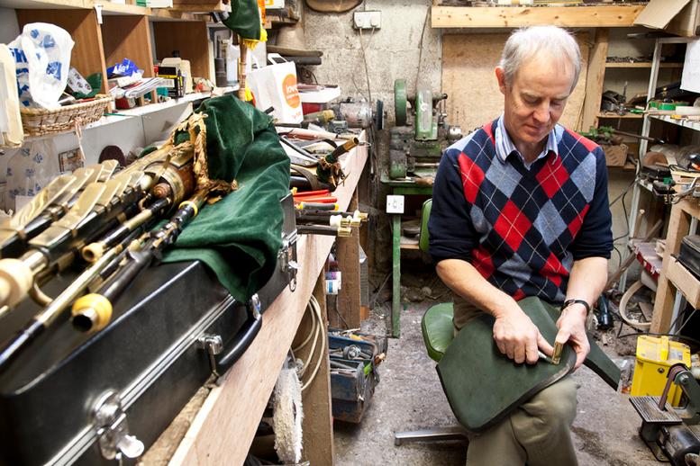 Uilleann pipe maker Michael Vignoles at work / Stephen Power