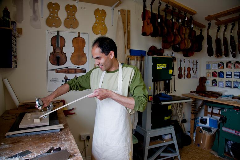 Fiddle maker Kuros Torkzadeh at work / Stephen Power
