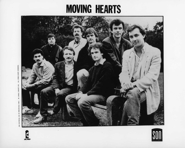 Moving Hearts, group, ca. 1989 / unidentified photographer