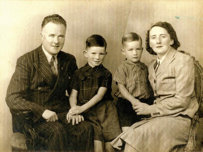 Leo, Leon, Liam and Helena Rowsome, 1942