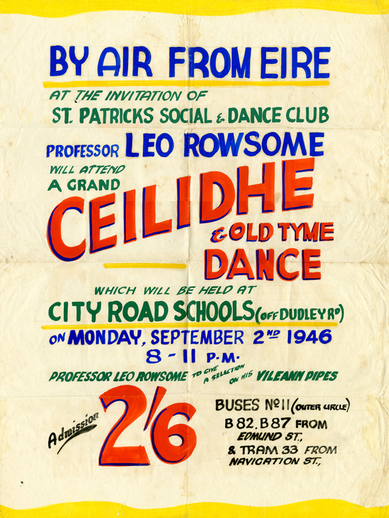 Ceilidhe and old tyme dance, 1946, event poster
