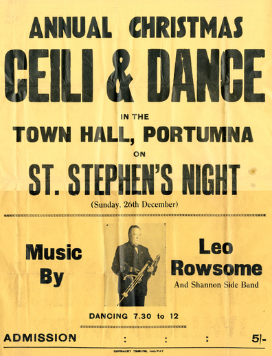 Annual Christmas ceili and dance, 1948, event poster