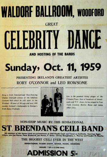 Celebrity dance, 1959, event poster