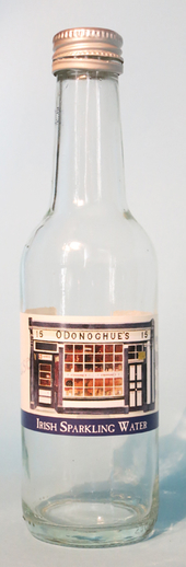 Bottle of sparkling water from O'Donoghue's pub, Dublin / ITMA photographer