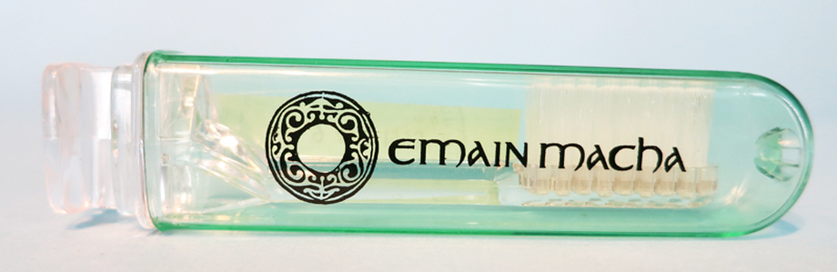 Toothbrush and holder from Emain Macha featuring the Loughnashade horn / ITMA photographer