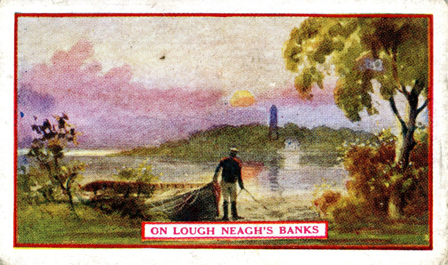 On Lough Neagh's banks, cigarette card [recto] / Wm. Ruddell Ltd.