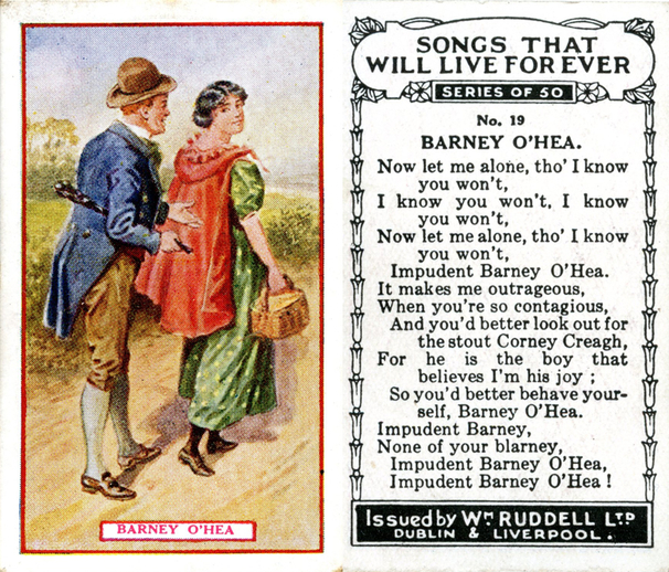 Barney O'Hea, cigarette card / Wm. Ruddell Ltd.