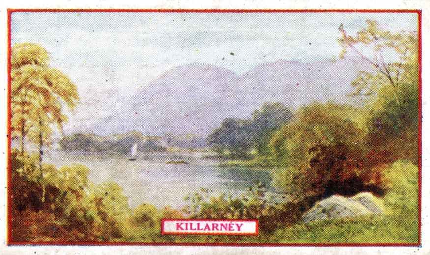 Killarney, cigarette card [recto] / Wm. Ruddell Ltd.