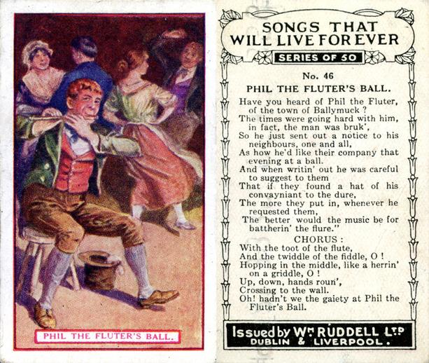 Phil the fluter's ball, cigarette card / Wm. Ruddell Ltd.