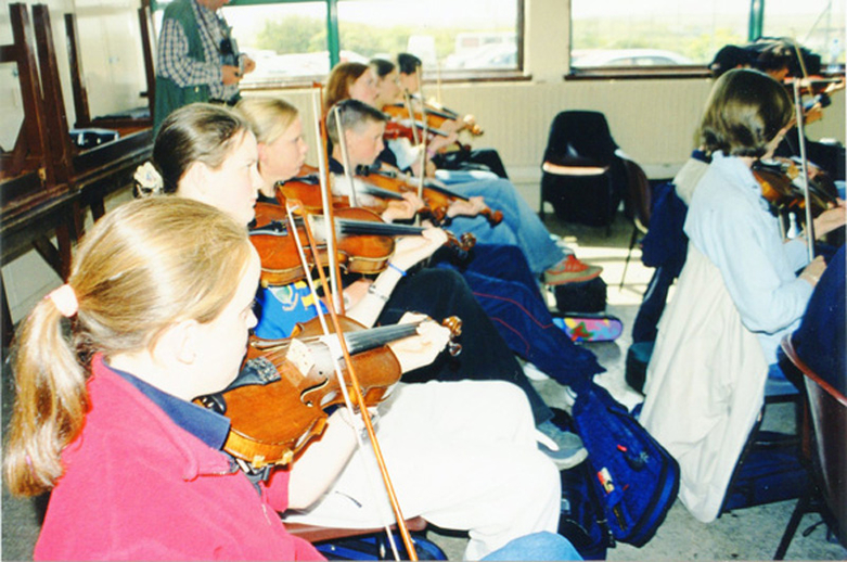 Young fiddle students / Orla Henihan