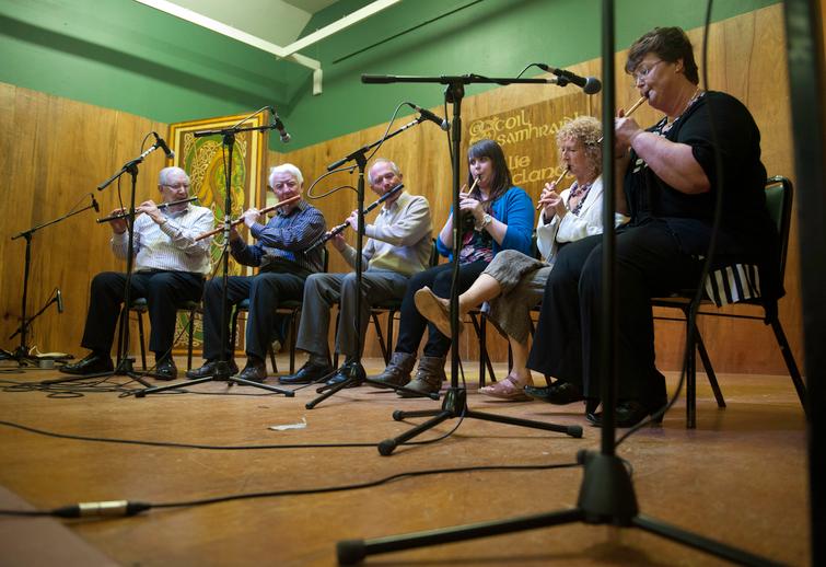Mick Hand, Mick O'Connor, Michael Tubridy, Deirdre O'Brien, Mary Bergin and Bríd O'Donohue, 2012 / Tony Kearns, photographer