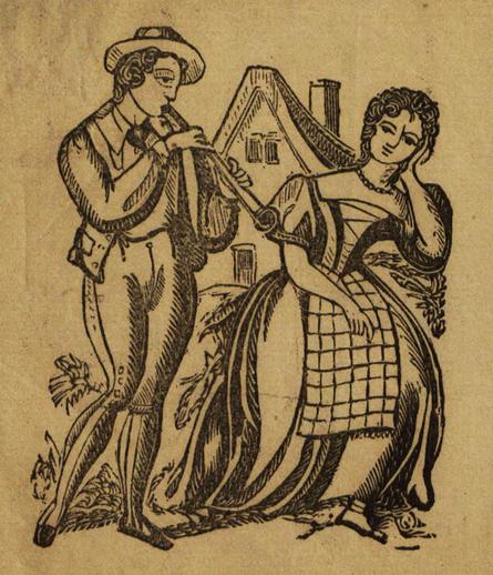 The dear Irish boy, woodcut