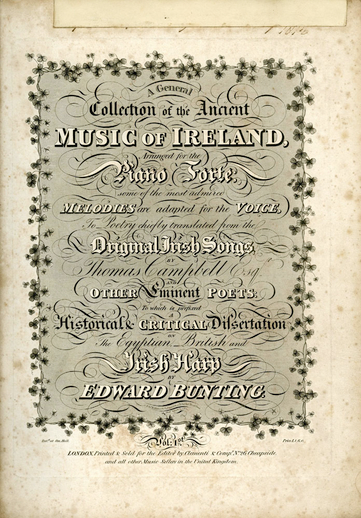 A General Collection of the Ancient Music of Ireland [2nd Published Collection], cover