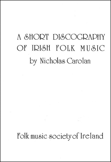 A Short Discography of Irish Folk Music, cover