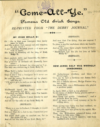 Come-all-ye : famous old Irish songs (1st ed.), cover