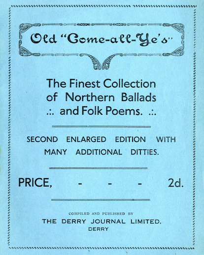 Old come all ye's : the finest collection of northern ballads and folk poems (2nd enlarged ed.), cov