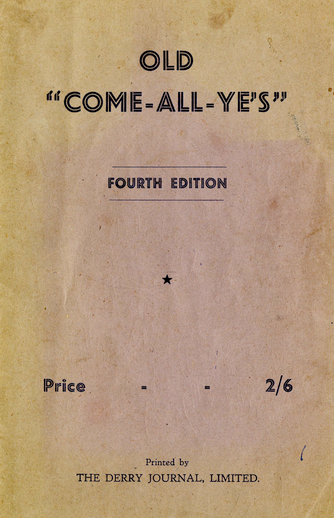 Old come all ye's (4th ed.), cover