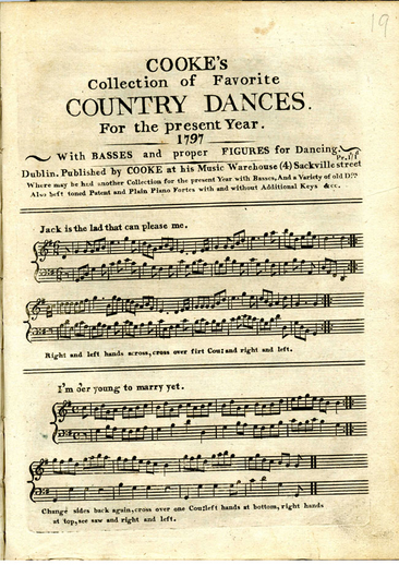 Cooke's collection of favorite country dances for the present year 1797, cover