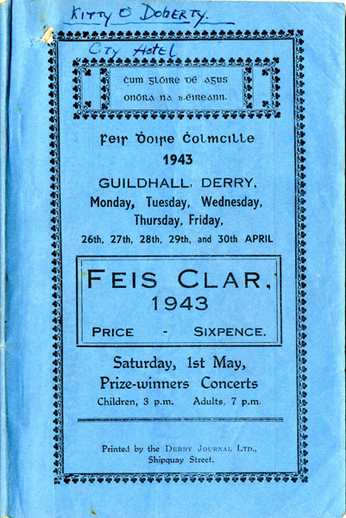 Feis Dhoire Cholmcille, 1943, cover
