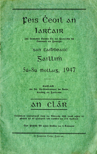 Feis Cheoil an Iarthair, 1947, cover
