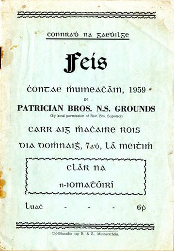 Feis Chontae Mhuineacháin, 1959, cover