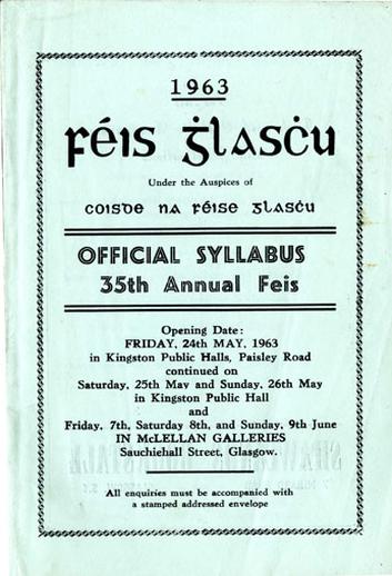 Féis Ghlaschu, 1963, cover
