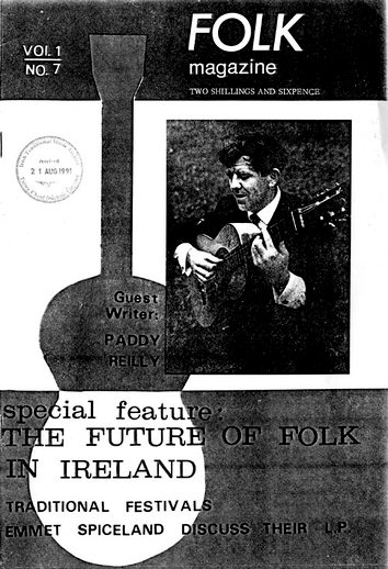 Folk magazine vol. 1, no. 7 (1968), cover