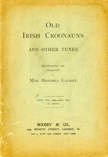 Old Irish croonauns and other tunes, cover