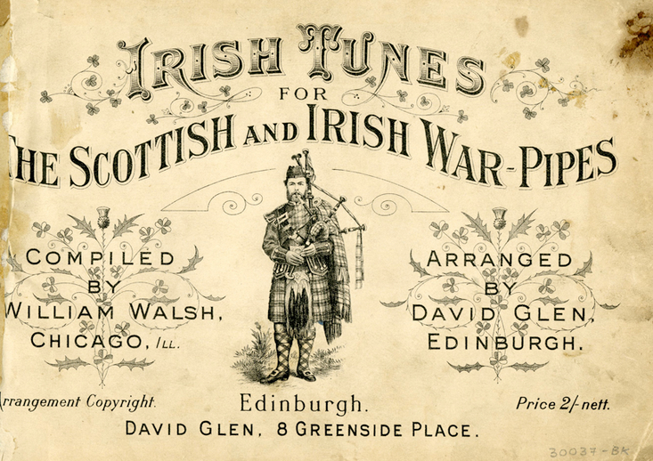 Irish Tunes for the Scottish and Irish War-Pipes, cover