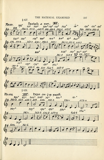 Henebry's transcription of 'Bean on fhir ruaidh' from cylinder recording XIII