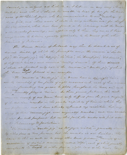 George Petrie manuscript transcription, handwritten manuscript