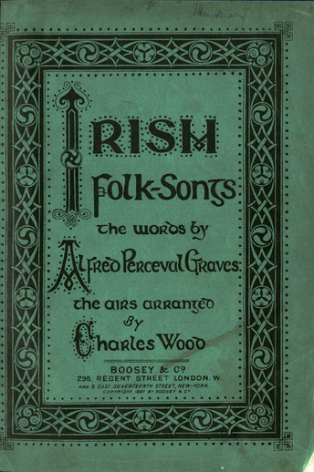 Joyce in Graves' Irish Folk-Songs, cover