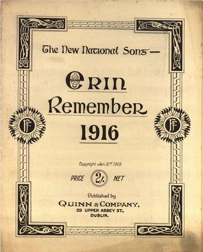 Erin remember 1916, cover