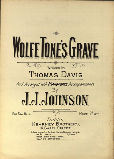 Wolfe Tone's grave, cover