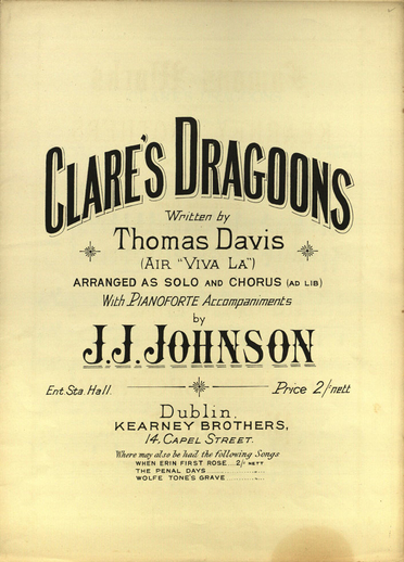 Clare's dragoons, cover