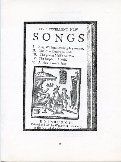 New dates for old songs, 1766–1803 / Hugh Shields