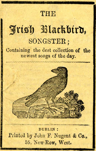 Irish blackbird songster, cover