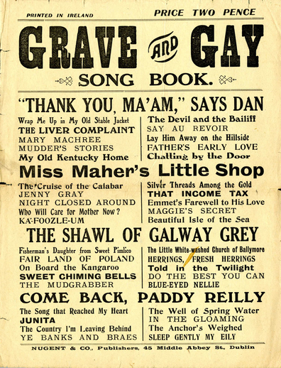 Grave and gay song book, cover