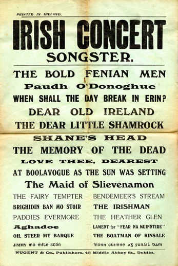 Irish concert songster, cover