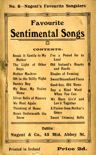 Favourite sentimental songs, cover