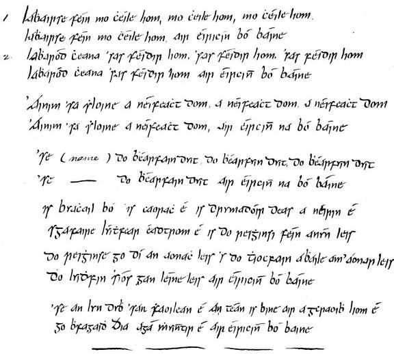 Labhairse féin mo chéile liom, manuscript / unidentified