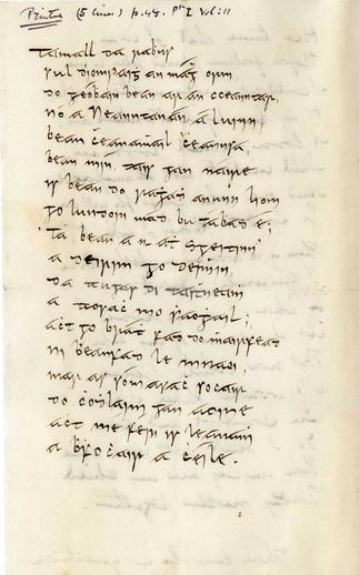 Tamall dá rabhus sul d'iompaigh an magh orm, manuscript, , handwritten manuscript