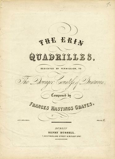 The Erin quadrilles, cover