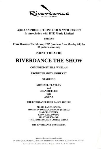 Riverdance : the show [Press release], 1995