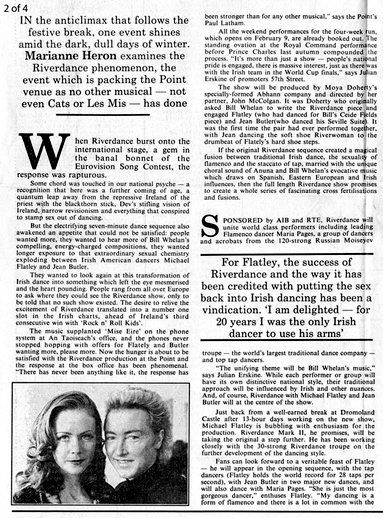 Press Reaction to Riverdance, November 1994 - January 1995