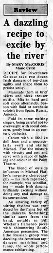 Press Reaction to Riverdance, February 1995