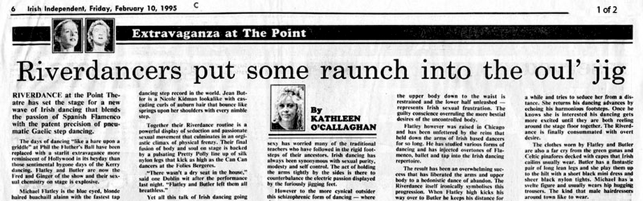 Press Reaction to Riverdance, February 1995
