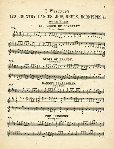 T. Westrop's 120 Country Dances, Jigs, Reels, Hornpipes, andc. for the Violin, cover